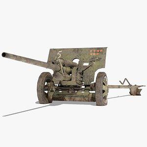 3D model ZIS 2 Cannon USSR