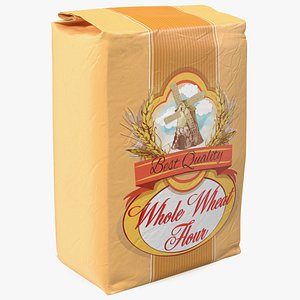 Wheat Flour Bag 5lb 3D model
