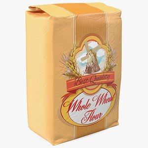Wheat Flour Bag 5lb 3D model