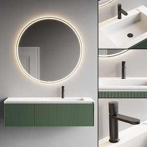 wall-mounted vanity 3D model