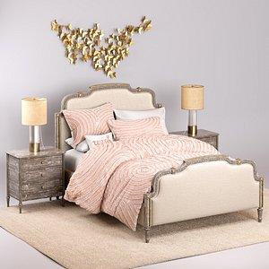 bed restoration lucine 3D model
