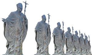 3D model John Paul 2 Pope Statue