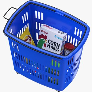 3D model Grocery Shopping Cart And Basket