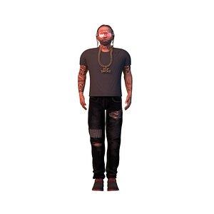 3D rapper popsmoke model