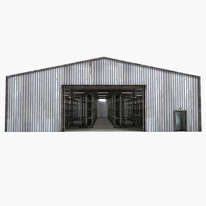 3D warehouse shelving