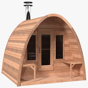 3D Mini Pod Outdoor Sauna model