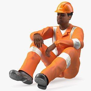 skin black male rescuer 3D model