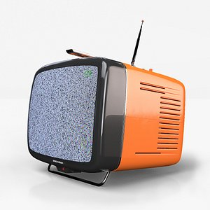 3D Brionvega DONEY - Vintage Retro CRT TV model