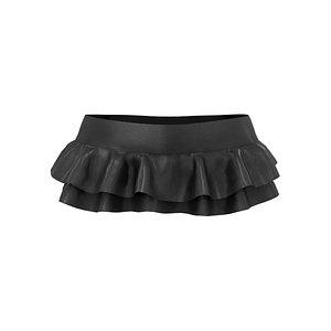 Double Ruffle Micro Mini Skirt 3D model