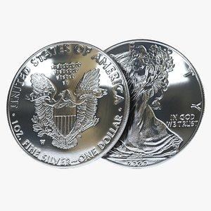 Silver Eagle Coin model