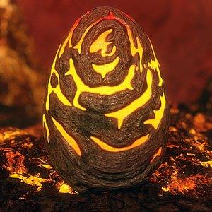 3D handpainted egg - model