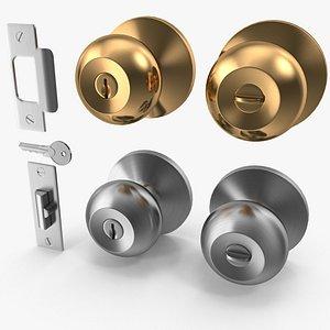 3D knob set door model
