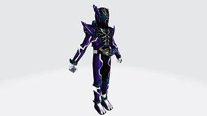 kamen rider rogue 3D model