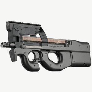 3D FN P90 Game Ready model