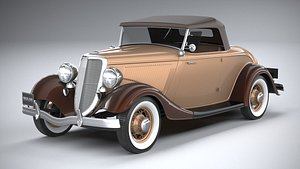 3D roadster 1934