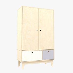 Plywood wardrobe 3 3D model