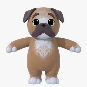 3D cute pup boxer rig