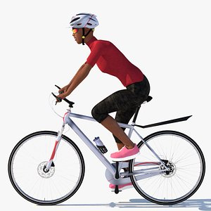 cycling animation stationary 3D model