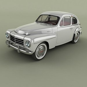 1954 pv444 coupe 3D model