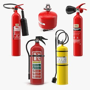 3D model Fire Extinguisher Collection 3