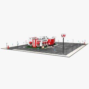 3D king kfc parking