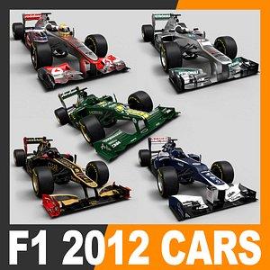 2012 helmets f1 car 3D model
