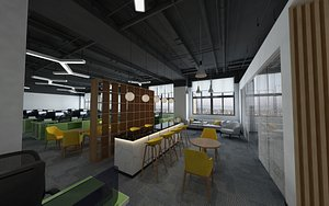3D model Public Office Area 2