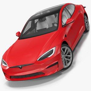 Tesla Model S Plaid Rigged 3D model