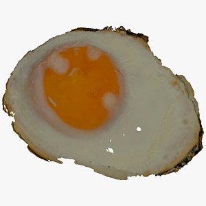 3D fried egg 01 raw