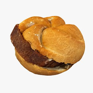 3D model bread semmel