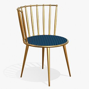 Dining Chair Gold 3D model