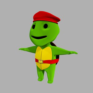 Turtle Game Character 3D model