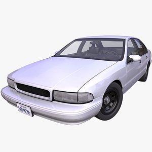 generic american sedan interior car 3D model