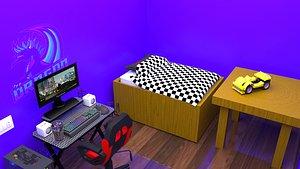 room computer 3D model