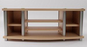 3D wooden rack tv