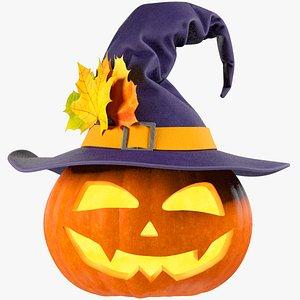 Halloween Pumpkin with Hat V2 model