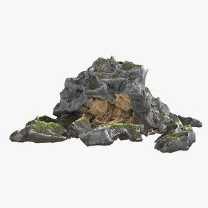 hideout cave 3D model
