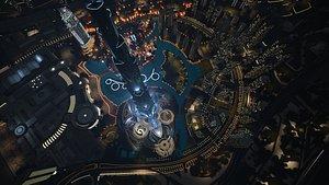 Dubai downtown area 3D