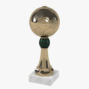 3D soccer award trophy