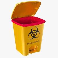 Pedal medical waste bin