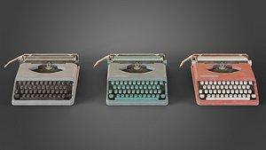 3D Used Hermes typewriter model