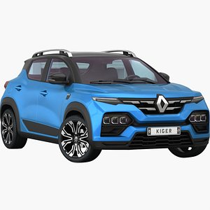 3D Renault Duster Kiger 2021 Opening doors and trunk