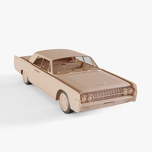 1962 Lincoln Continental 3D