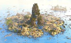 3D island