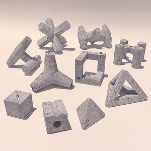 Concrete blocks 3D