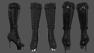 skulls spikes decorated heel model