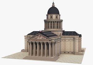 3D pantheon paris model