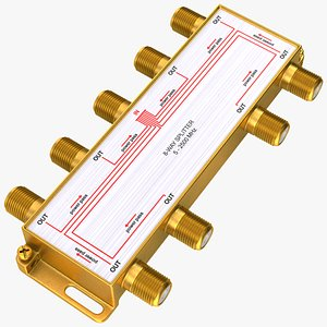 CATV Broadband Coaxial Splitter 8 Way model