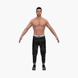 fighter man 3D model