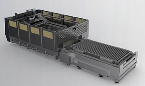 3D Large laser cutting machine model